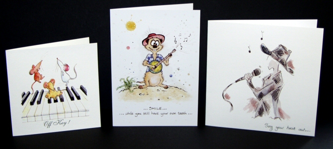 Music Design Greetings Cards