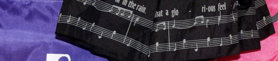 Music Bags and Cases, Small Umbrellas, Purses, Shoulder & Tote Bags With Music Designs