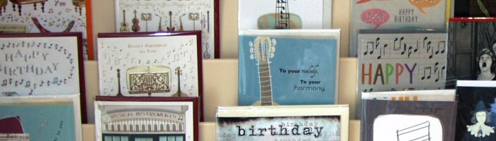 Music Birthday Cards and Greetings Cards for Musicians