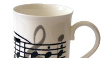 Music Design Teapots, Teatowels, Aprons, Coasters, Glass Markers  and Mugs