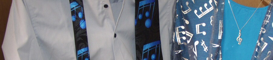A Range of Music Themed Clothing, Music Socks, Scarves, Ties and More