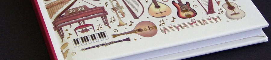 Music Stationery, Notebooks, Notepads, Manuscript, Pens, Pencils and Erasers