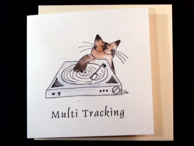 Multi-Tracking Cat Card
