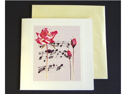 Freestyle Rose and Music Card