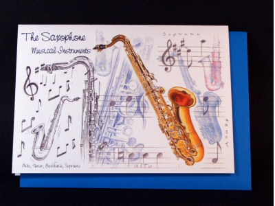 Saxophone Card - Instruments Series