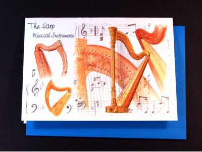 Harp Card - Instruments Series