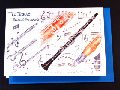 Clarinet Card - Instruments Series