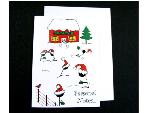 Seasonal Notes Christmas Card