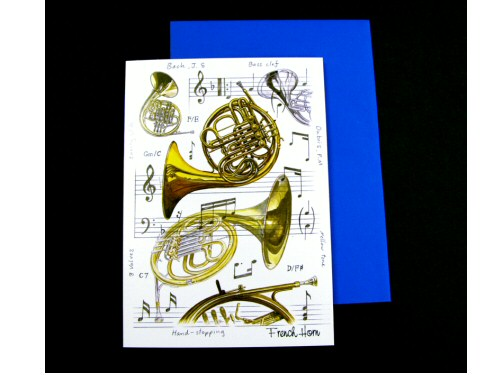 French Horn Card - Instruments Series