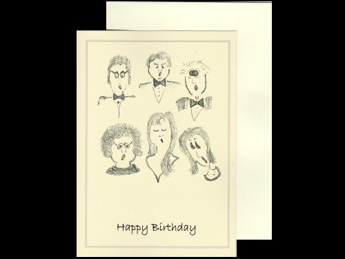 Singers Birthday Card