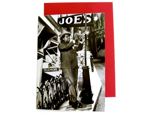 Louis Armstrong Outside Joes Card