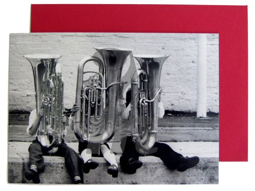Tubas With Legs Card