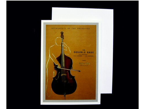 Instruments of the Orchestra Card - Double Bass