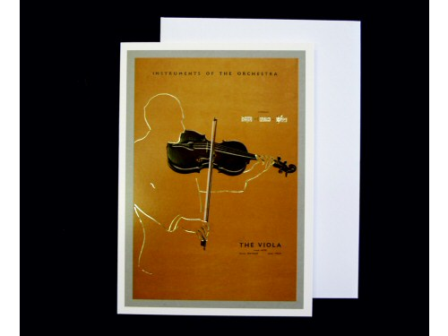 Instruments of the Orchestra Card - Viola