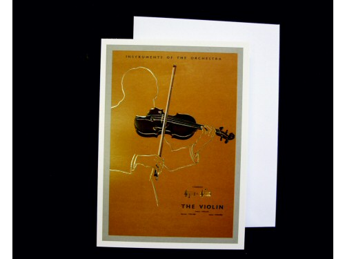 Instruments of the Orchestra Card - Violin