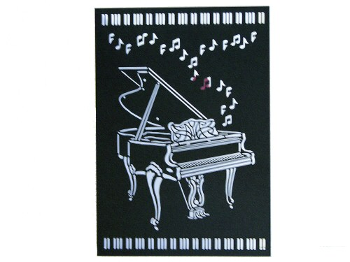 Grand Piano Delicatissimo Card