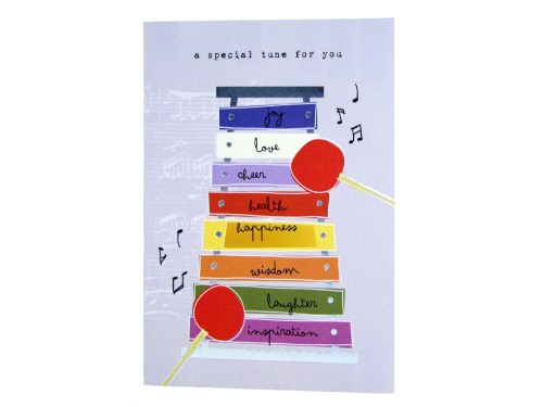 Special Tune Xylophone Birthday Card