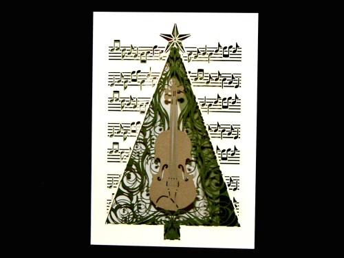 Violin Christmas Tree Delicatissimo Card