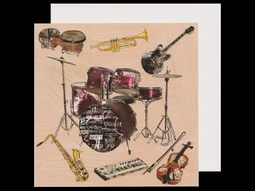 Drums and Other Instruments Card