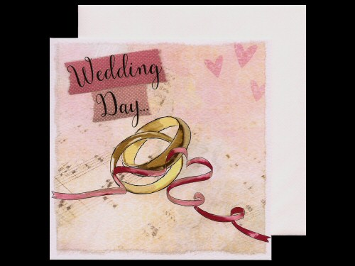 Rings and Music Wedding Card