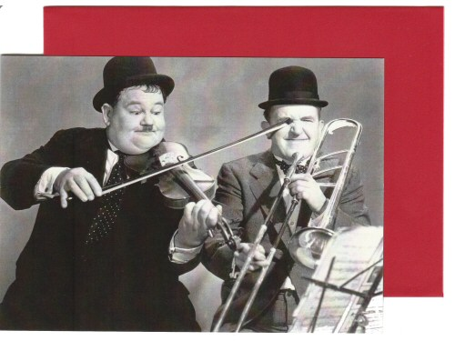 Laurel and Hardy Playing The Fool Card