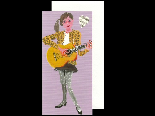 Girl and Guitar Card