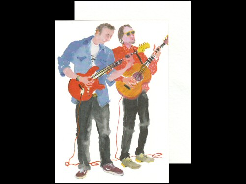 Two Guitars Card