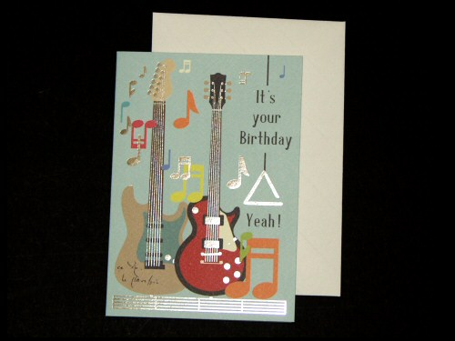 Electric Guitars Birthday Card