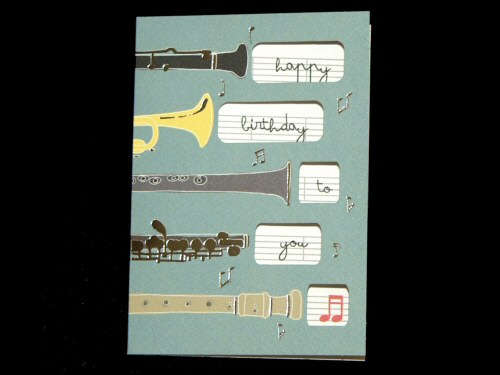 Woodwind and Trumpet Birthday Card
