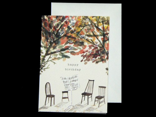 Music Stand and Chairs Birthday Card