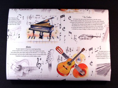 Piano Guitar and Violin Giftwrap