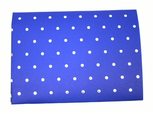 Blue With Silver Dots Giftwrap