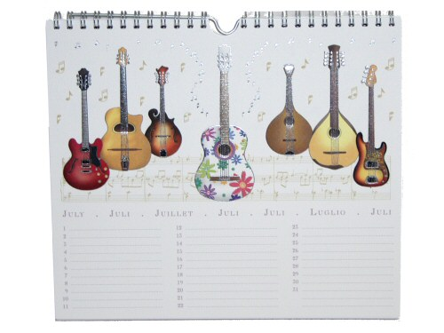 Musical Instruments Birthday Calendar