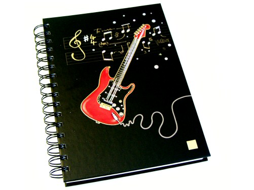 Red Electric Guitar Notebook