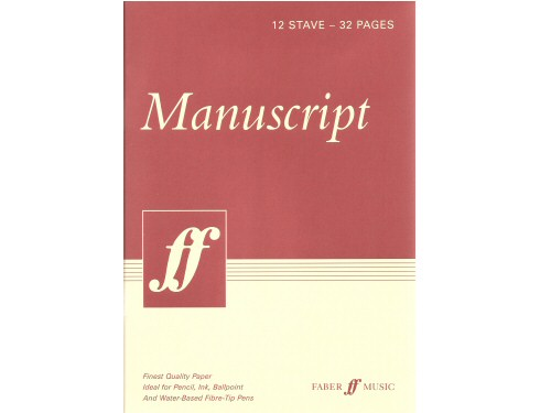 Manuscript Book Cream A4 32 Pages 12 Stave