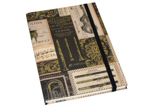 Brown Instruments Design A5 Notebook