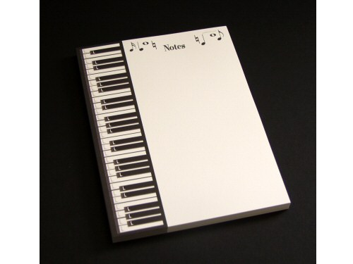 Piano Keyboard Design A5 Notepad