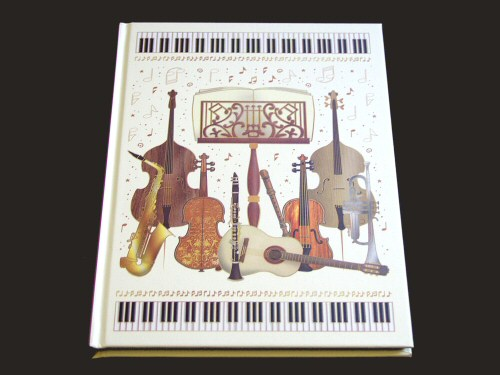 Instruments and Music Stand A5 Notebook