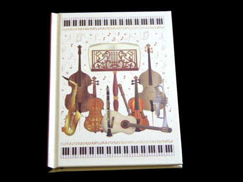 Instruments and Music Stand A6 Notebook
