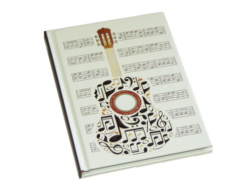 Guitar Design A5 Lined Notebook