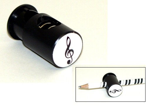 Magnetic Pencil Clip Treble Clef Design