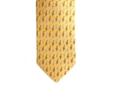 Yellow Tie Treble Clef Design