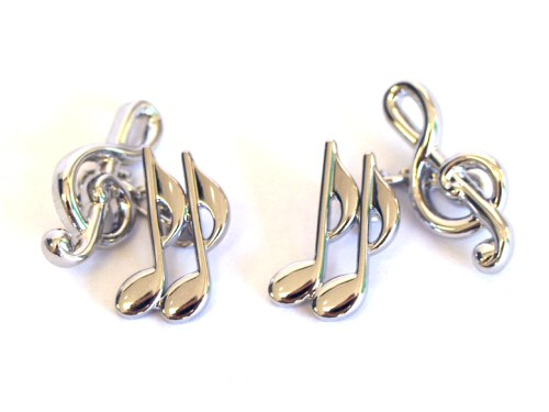 Treble Clef and Quaver Chain Cufflinks
