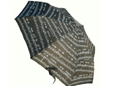 Singing in the Rain Umbrella - Black