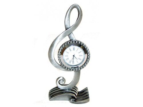 Metal Treble Clef Clock