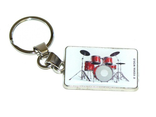 Drum Kit Keyring Metal