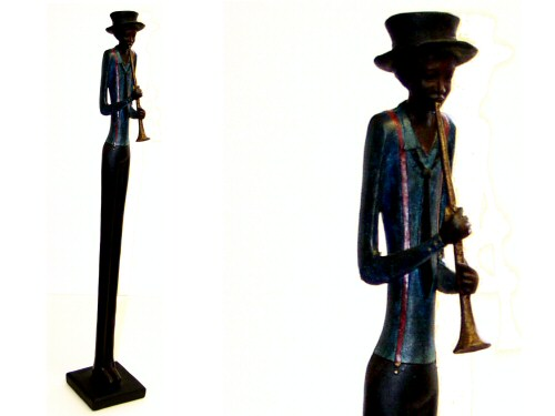 Blues Trumpeter Figurine Standing