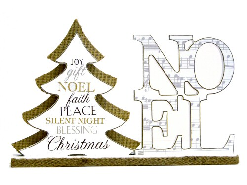 Noel and Music Mantel Plaque