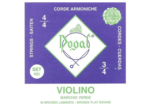 Dogal Green Violin String Set - Full Size