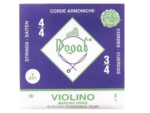 Dogal Green Violin String E - Full Size
